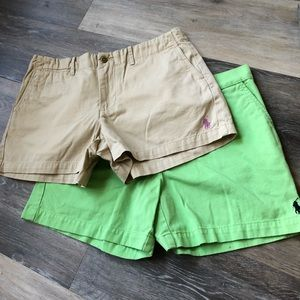 2 Pairs of Ralph Lauren Sport Chino Shorts sz 6